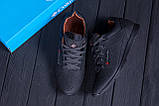 Мужские кожаные летние кроссовки, перфорация  Коламбия  SB black (реплика), фото 10
