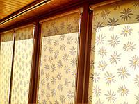 Фото тканевые ролеты на балконе