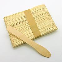 """Шпатель/лопатка для нанесення воску """"ложка"""" [дерев'яний] 1x 10x 25x (ціни в описі), фото 1"""