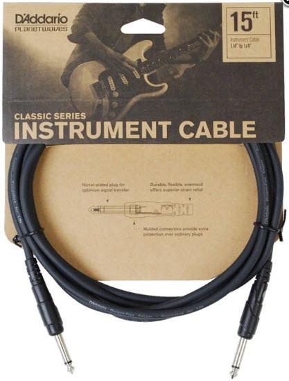 PLANET WAVES PW-CGT-15 Classic Series Instrument Cable 15ft Инструментальный кабель Classic Series