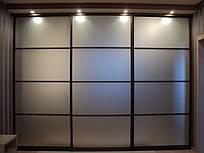 Двері розсувні для шафи-купе Дзеркало-Сатин