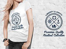 Жіноча футболка з принтом. Liberty&Amity. Бавовна 100%. 5 кольорів. Розміри від S до 2XL