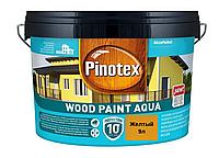 Краска на водной основе для деревянных фасадов Pinotex Wood Paint Aqua 9л (Желтый)