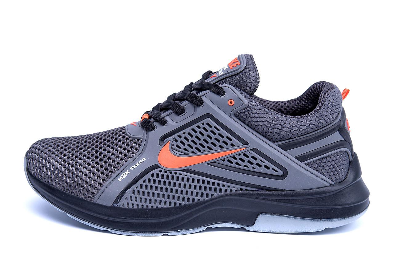 Мужские летние кроссовки сетка Nike  Grey (реплика)