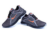 Мужские летние кроссовки сетка Nike  Grey (реплика), фото 3