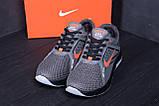Мужские летние кроссовки сетка Nike  Grey (реплика), фото 7