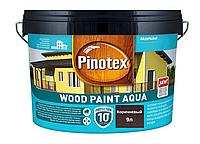 Краска на водной основе для деревянных фасадов Pinotex Wood Paint Aqua 9л (Коричневый)