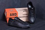 Мужские кожаные кеды TН Black Leather, фото 7