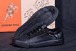 Мужские кожаные кеды TН Black Leather, фото 8