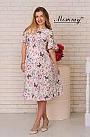 Легкое летнее струящееся платье с цветочным принтом для беременных Лимон Mommy L (2063)