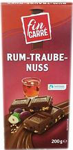 Шоколад Fin Carre Rum Traube Nuss молочный изюм, ром, орех 200 г