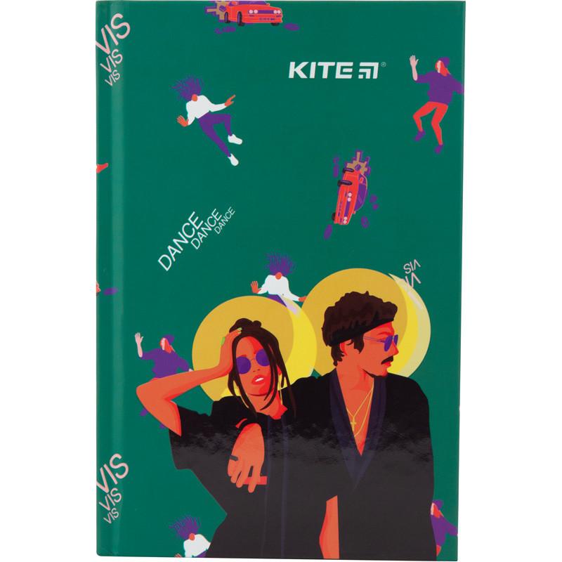Книга записная Kite Время и Стекло VIS19-199-1 твердая обложка А6, 80 листов, клетка