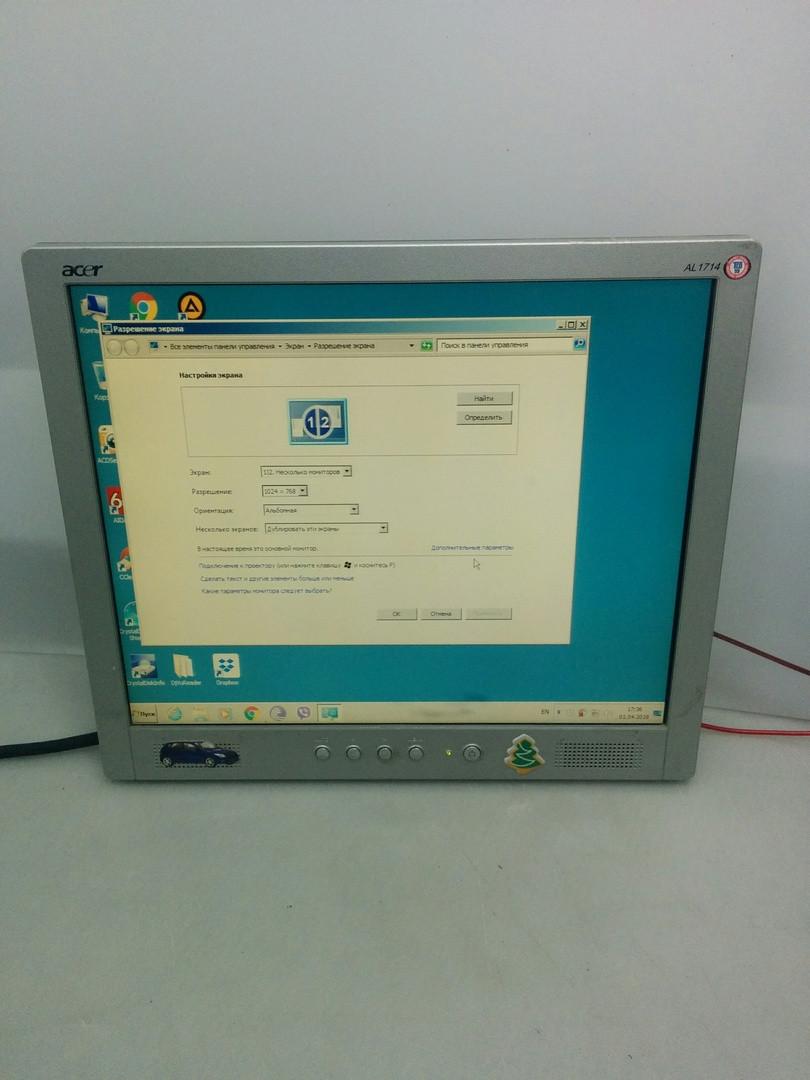 """Монитор 17"""" Acer AL1714 с колонками без комплекта"""