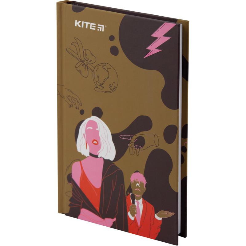 Книга записная Kite Время и Стекло VIS19-199-2 твердая обложка А6, 80 листов, клетка