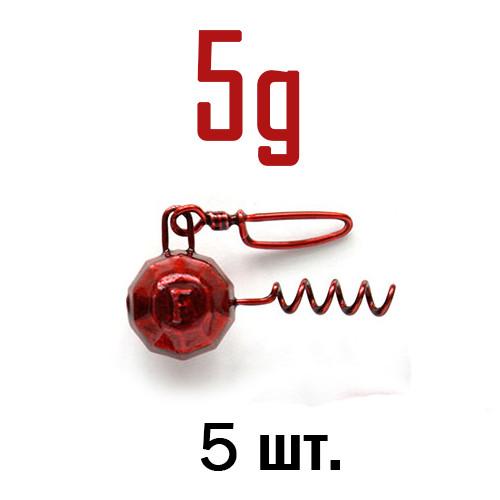 ШТОПОР ГРАНЁНЫЙ Fanatik цвет: RED  5 г. 5 шт.