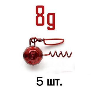 ШТОПОР ГРАНЁНЫЙ Fanatik цвет: RED  8 г. 5 шт.