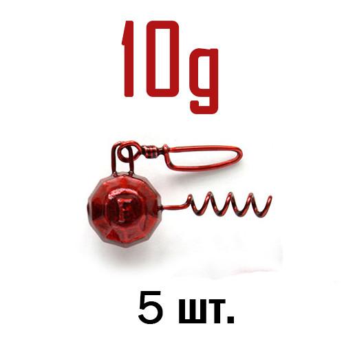 ШТОПОР ГРАНЁНЫЙ Fanatik цвет: RED  10 г. 5 шт.