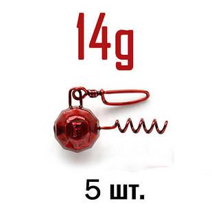 ШТОПОР ГРАНЁНЫЙ Fanatik цвет: RED  14 г. 5 шт.