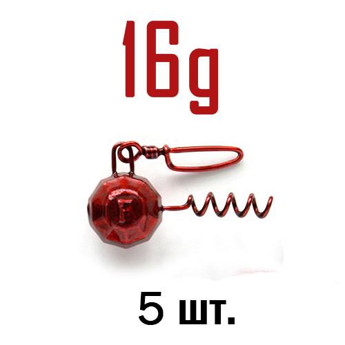 ШТОПОР ГРАНЁНЫЙ Fanatik цвет: RED  16 г. 5 шт.