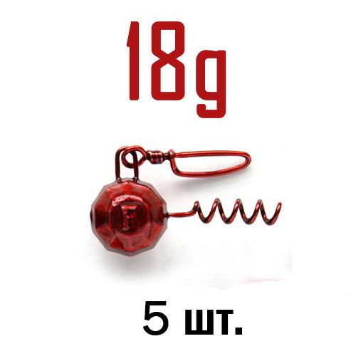 ШТОПОР ГРАНЁНЫЙ Fanatik цвет: RED  18 г. 5 шт.