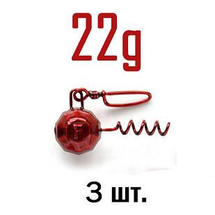 ШТОПОР ГРАНЁНЫЙ Fanatik цвет: RED  22 г. 3 шт.