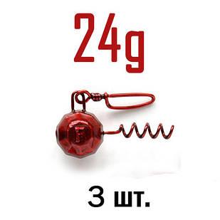 ШТОПОР ГРАНЁНЫЙ Fanatik цвет: RED  24 г. 3 шт.