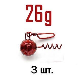 ШТОПОР ГРАНЁНЫЙ Fanatik цвет: RED  26 г. 3 шт.
