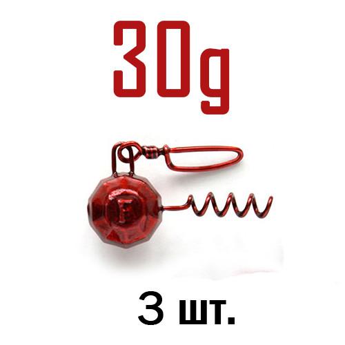 ШТОПОР ГРАНЁНЫЙ Fanatik цвет: RED  30 г. 3 шт.