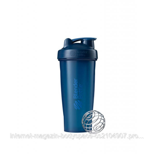 Blender Bottle, Спортивный шейкер BlenderBottle Classic Navy, 760 мл