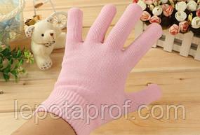 Гелевые увлажняющие перчатки. Gel Spa Gloves  Розовые