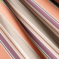 Декоративная ткань с узкими и широкими полосками бежевого и сиреневого цвета Испания 82905v1