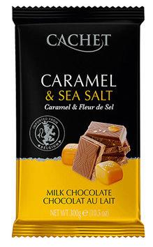 Шоколад Cachet Caramel & Sea Salt карамель+морская соль 300 г, фото 2