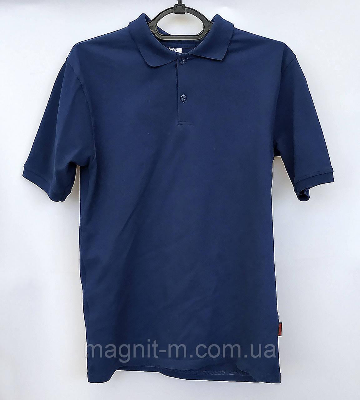 """Мужская тенниска """"Богатырь"""". Ткань лакоста. Темно-синий цвет.  Хлопок. Узбекистан."""