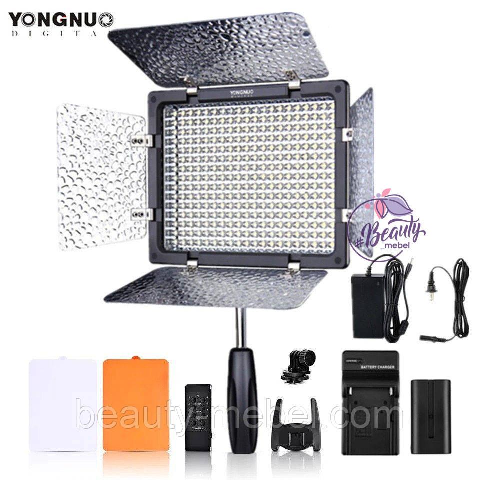 LED осветитель видеосвет Yongnuo YN300 III 3200-5500K + аккумулятор + адаптер питания