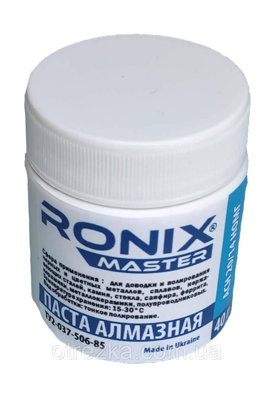 Алмазная паста по металлу АСН зерно 14/10 НОМГ (синяя) 40 грамм Ronix Master