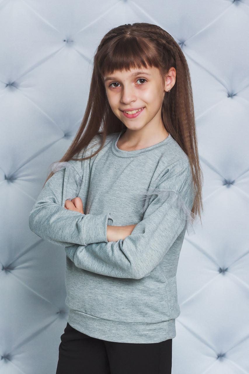 Кофта трикотажная для девочки светло-серая