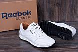 Мужские кожаные кроссовки Reebok Classic White Pearl (реплика), фото 10
