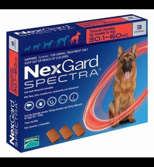 Нексгард Спектра 30-60кг (NexGard Spectra) для Собак от Клещей - 1табл