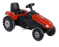 Трактор педальный красный веломобиль клаксон на руле, сидение регулируемое, колеса с резиновыми накладками
