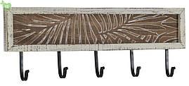 Деревянная вешалка с пятью крючками 84169
