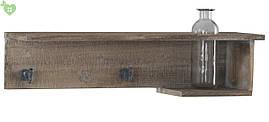 Деревянная полка с крючками 84172