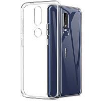 Чехол Case для Nokia 3.1 Plus силиконовый прозрачный
