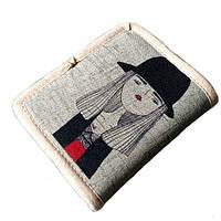 aa91d4cf3e43e Текстильный кошелек Девушка в шляпе, Все для пляжа, Текстильний гаманець  Дівчина в капелюсі