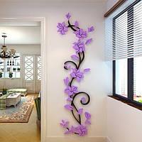 """Акриловая 3D наклейка """"Liana"""" светло-фиолетовый, Интерьерные наклейки, Акрилова 3D наклейка """"Liana"""" світло-фіолетовий"""