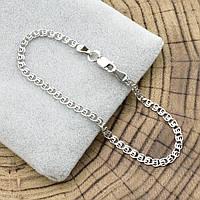 """Серебряный браслет """"Love"""", длина 17 см, ширина 2.5 мм, вес серебра 1.6 г"""