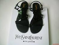 Босоножки женские Yves Saint Laurent (ив сен лоран) черные