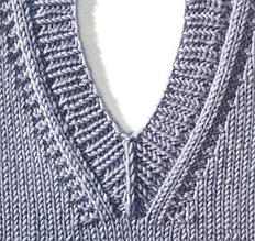 Обвязка горловины спицами и крючком