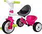 Велосипед детский Smoby Toys Беби Драйвер металлический с козырьком и багажником розовый (741201), фото 6