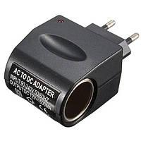 ✅ Адаптер 220в на 12в разъем прикуривателя - Адаптер прикуриватель от 220 - Car Charge Switch черный, Зарядные устройства, кабели, адаптеры,
