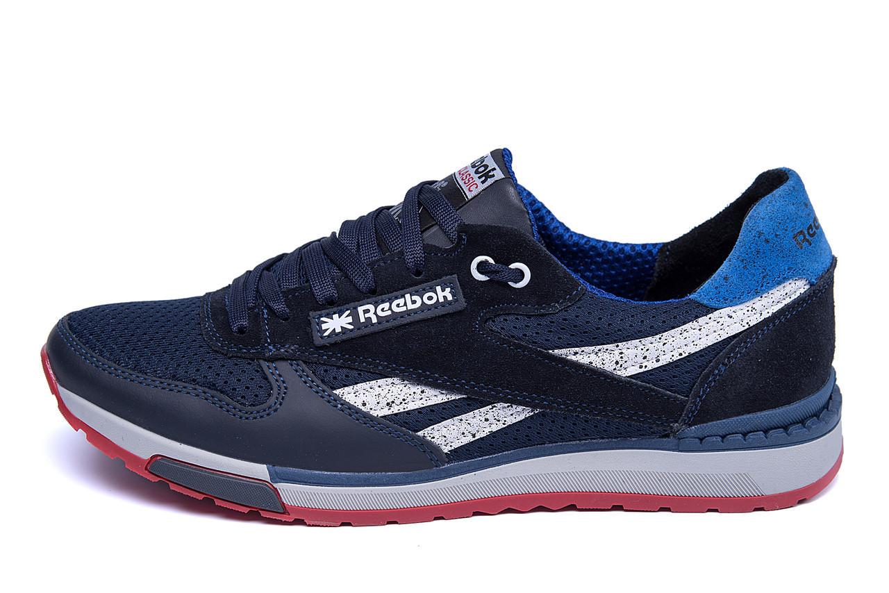 Мужские летние кроссовки сетка Reebok Blue (реплика)